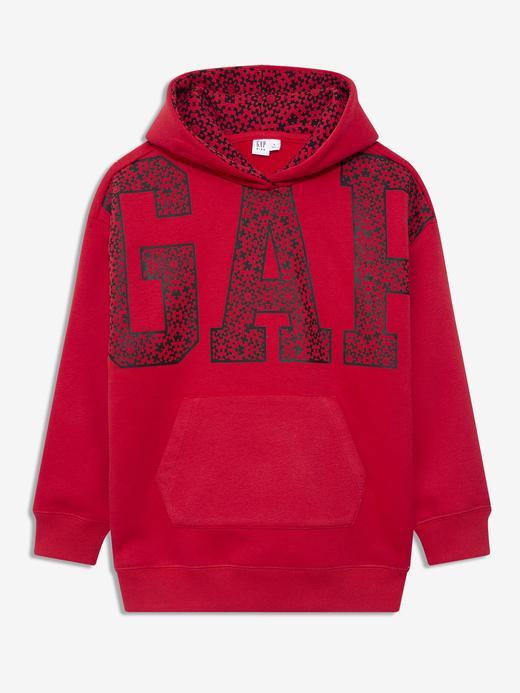 Kız Çocuk Kırmızı Gap Logo Kapüşonlu Sweatshirt