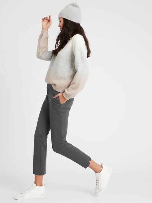 Kadın Gri Slim Ponte Pantolon