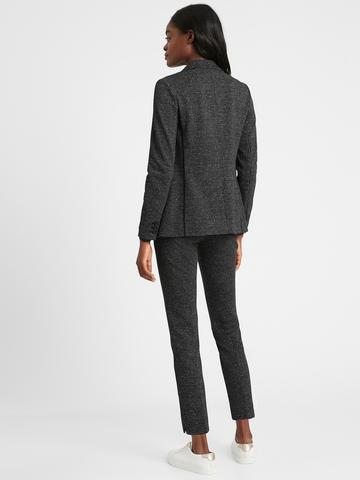 Kadın Siyah Ponte Blazer Ceket