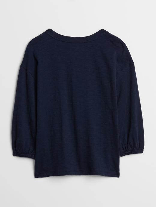 Kız Çocuk  Balon Kollu T-Shirt