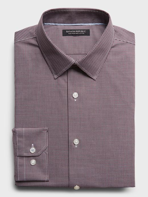 Erkek  Ütü Gerektirmeyen Slim-Fit Gömlek