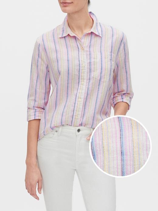 Kadın Pembe Uzun Kollu Boyfriend Gömlek