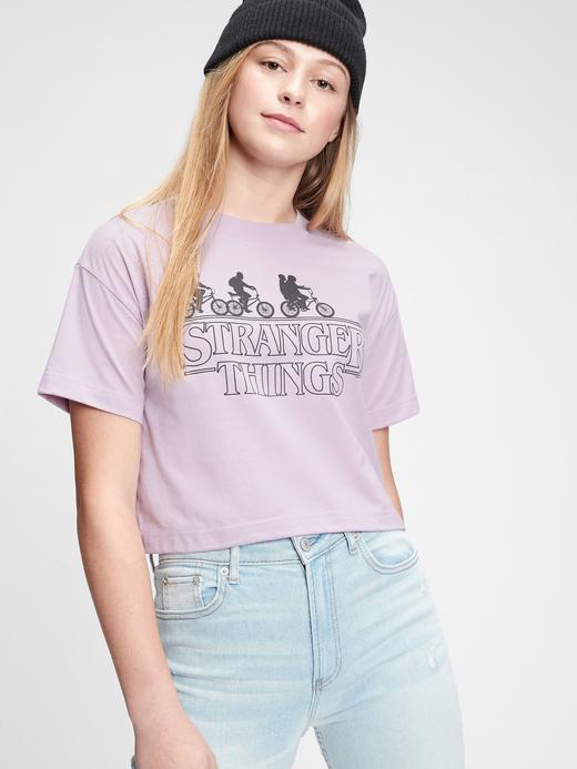 Genç Kız Pembe Teen Grafik T-Shirt