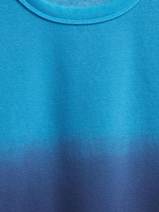 Erkek Çocuk Gri Dip-Dye Yuvarlak Yaka Sweatshirt