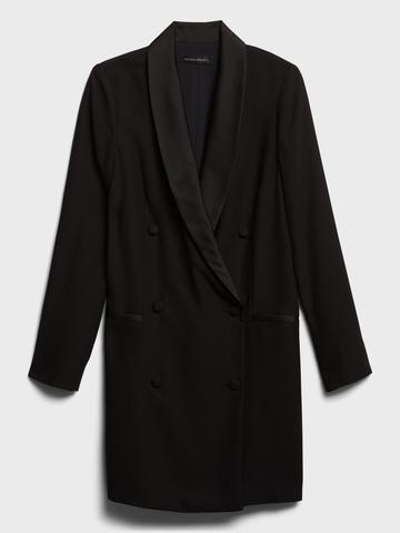 Kadın siyah Çift Düğmeli Blazer Elbise