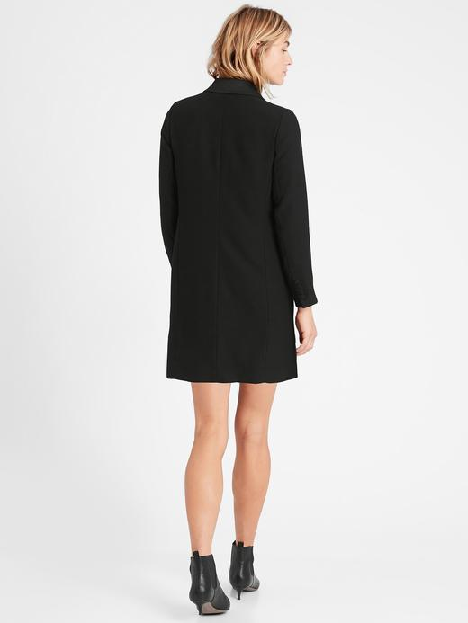 Kadın BLACK K-100 Çift Düğmeli Blazer Elbise