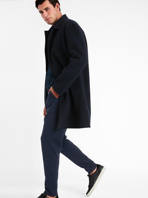 Erkek Siyah SUPIMA® Jogger Pantolon