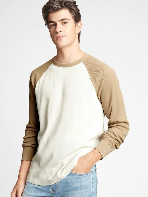 Erkek Bej Uzun Kollu Raglan T-Shirt