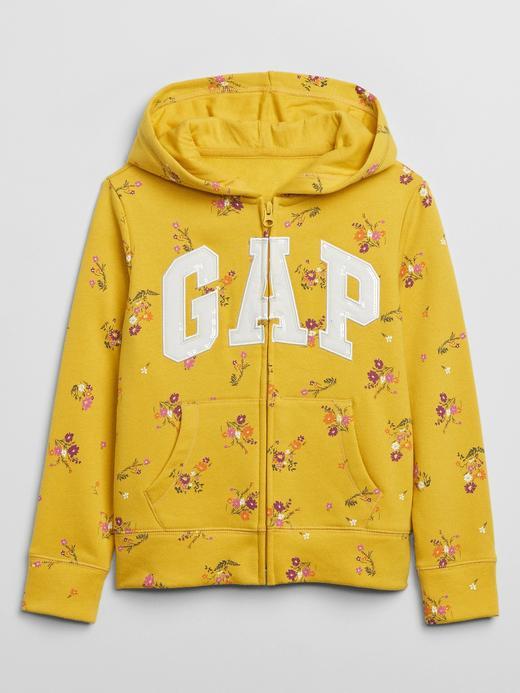 Kız Çocuk Sarı Gap Logo Kapüşonlu Sweatshirt