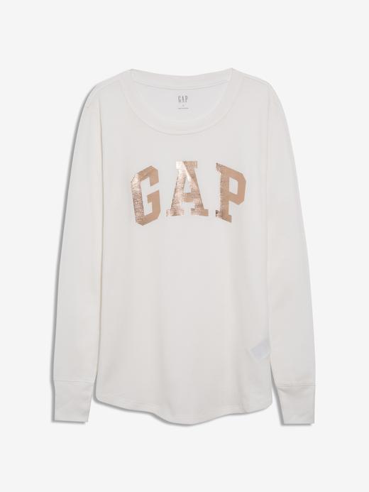 Kadın SNOWFLAKE MILK Gap Logo Uzun Kollu T-Shirt