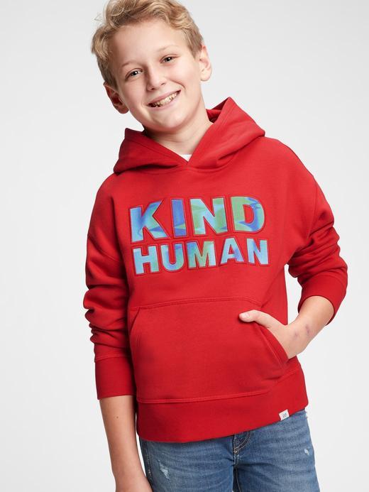 Erkek Çocuk Lacivert Kapüşonlu Grafik Sweatshirt