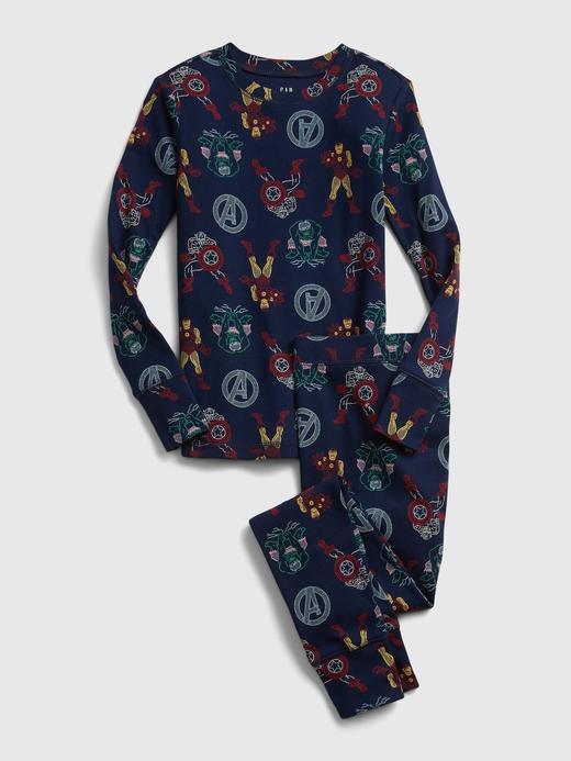 Erkek Çocuk Lacivert Marvel Avengers Pijama Takımı