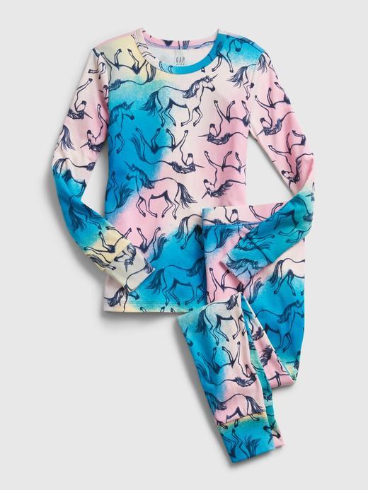 Kız Çocuk Çok Renkli Tie-Dye Unicorn Pijama Takımı