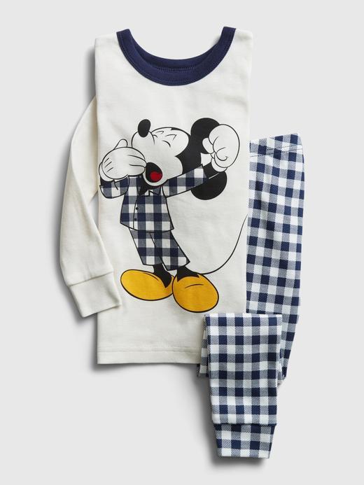 Kız Bebek Beyaz Disney Mickey Mouse Pijama Takımı
