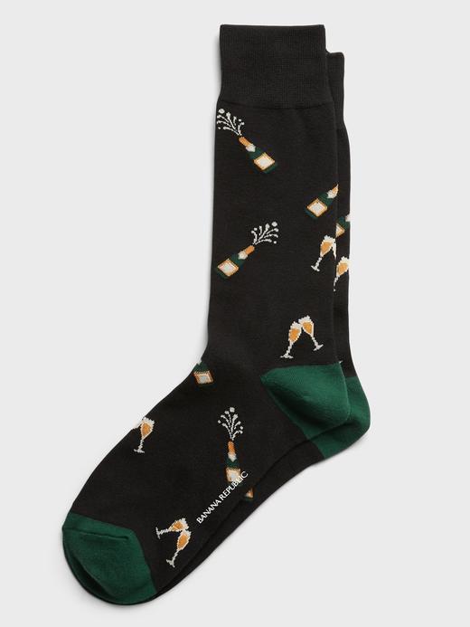 Erkek BLACK Desenli Çorap
