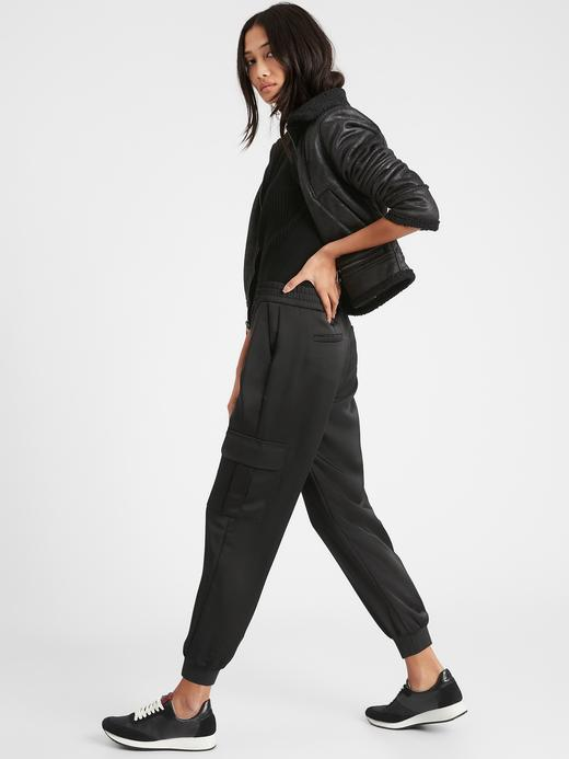 Kadın  Saten Kargo Pantolon