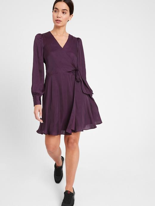 Kadın  Saten Anvelop Elbise