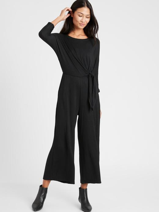 Kadın BLACK K-100 Wide Leg Tulum
