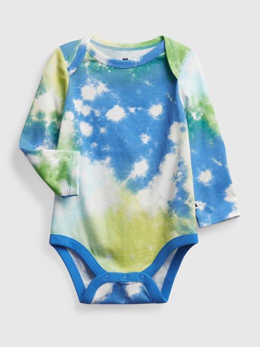 Erkek Bebek Mavi Desenli Body