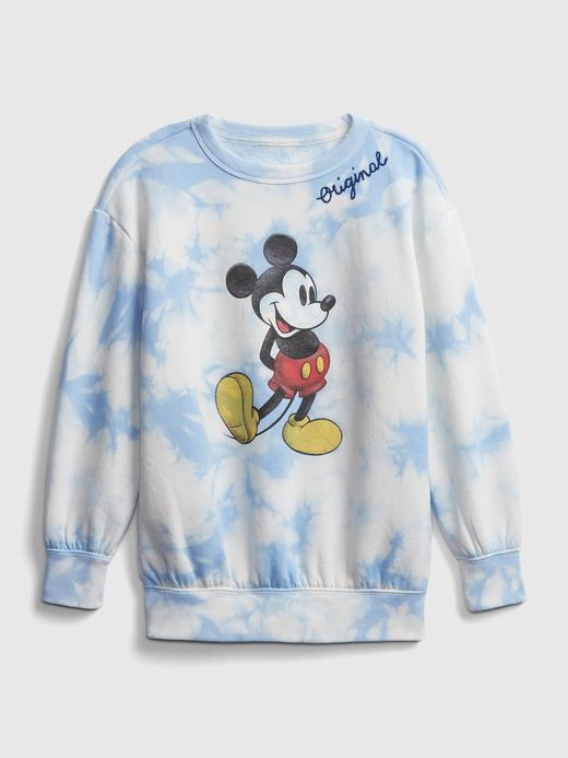 Kız Çocuk Mavi Disney Mickey Mouse Tie-Dye Sweatshirt
