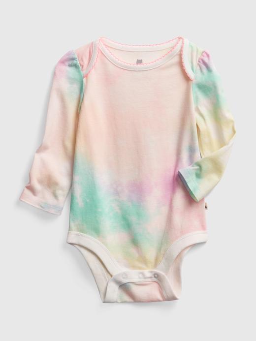 Kız Bebek Çok Renkli Uzun Kollu Desenli Body