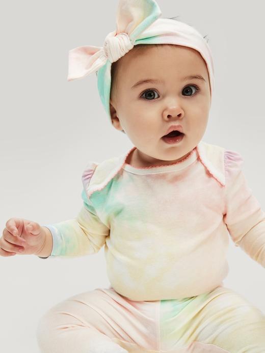 Kız Bebek Pembe Desenli Pull-On Eşofman Altı
