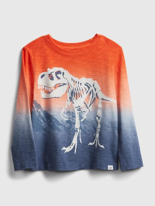 Erkek Bebek Turuncu Dip-Dye Grafik T-Shirt