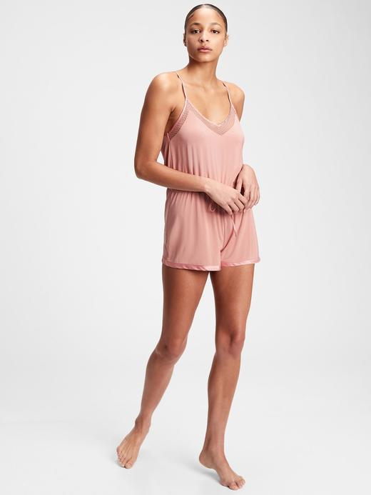 Kadın PASSION ROSE Modal Karışımlı Askılı Tulum Pijama