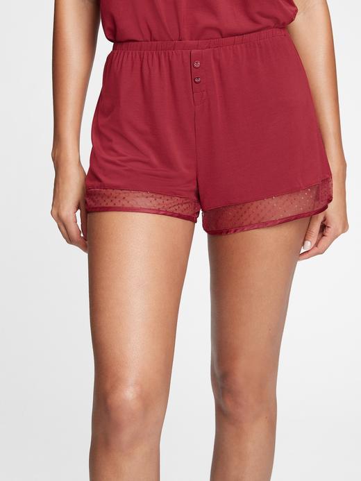 Kadın Kırmızı Modal Karışımlı Pijama Altı