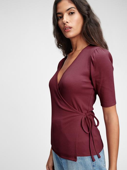 Kadın Kırmızı Anvelop Bluz