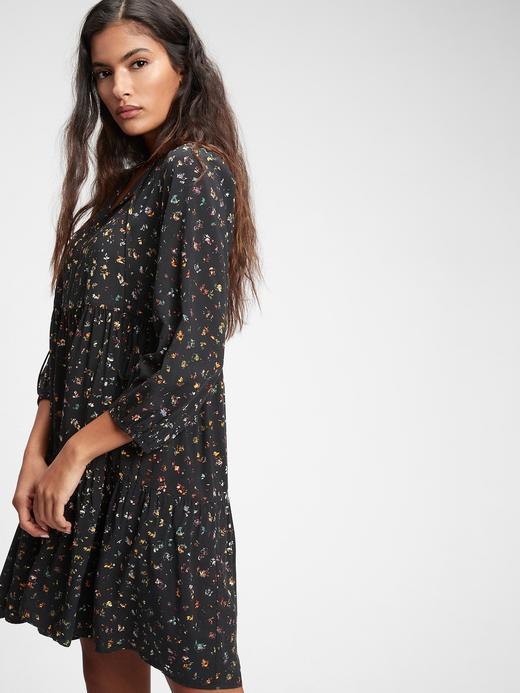 Kadın BLACK FLORAL Desenli Elbise