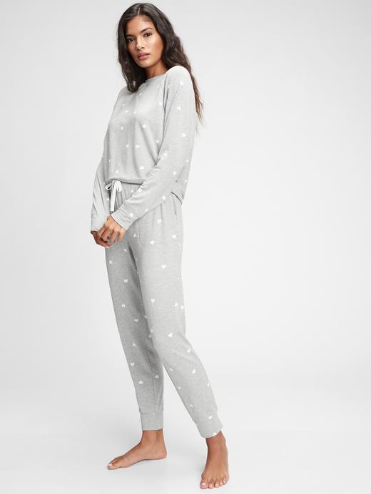 Kadın Gri Supersoft Jogger Pijama Altı