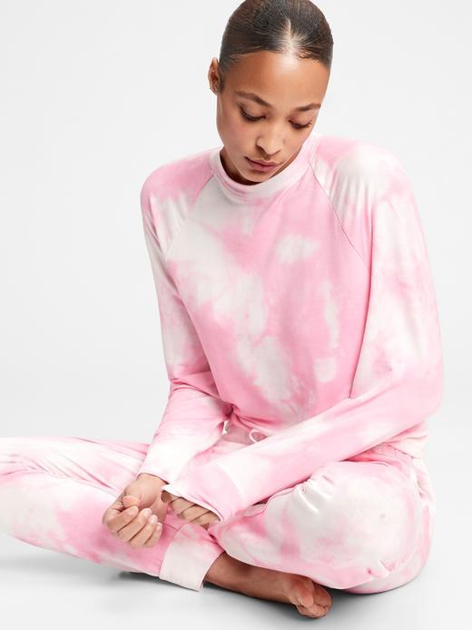 Kadın Pembe Supersoft Yuvarlak Yaka Pijama Üstü