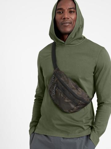 Erkek Yeşil SUPIMA® Kapüşonlu Sweatshirt