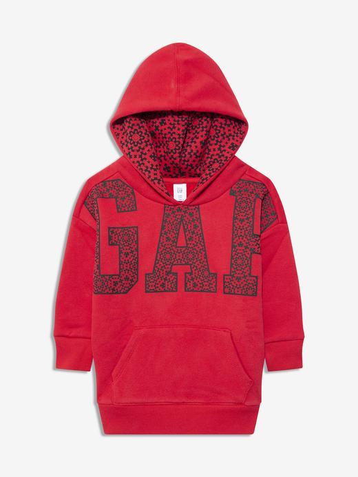 Kız Bebek Kırmızı Gap Logo Kapüşonlu Sweatshirt