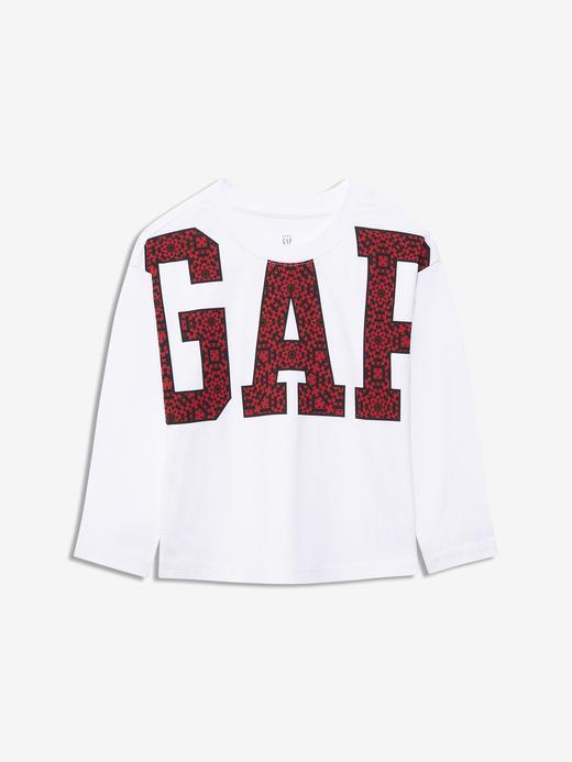 Kız Bebek Beyaz Gap Logo Uzun Kollu T-Shirt