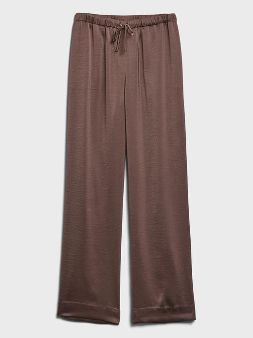 Kadın  Wide-Leg Saten Pull-On Pantolon