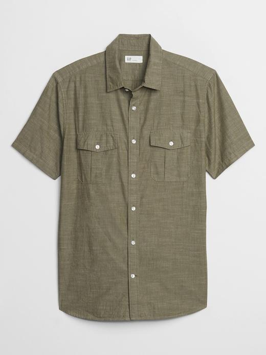 Erkek  Kısa Kollu Utility Gömlek