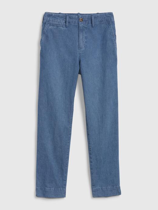 Kadın Mavi Straight Leg Pantolon