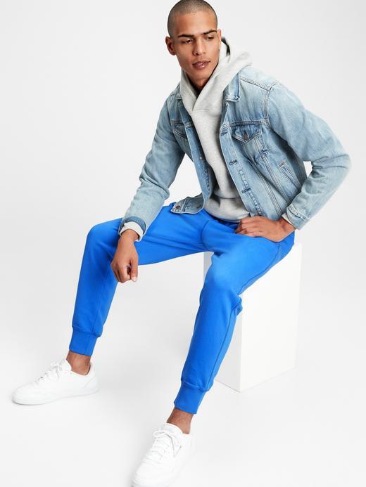 Erkek Mavi Vintage Soft Jogger Eşofman Altı