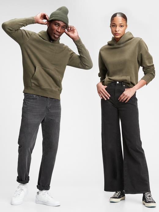 Erkek Yeşil Vintage Soft Pullover Kapüşonlu Sweatshirt