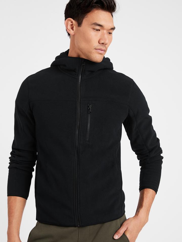Erkek Siyah Fermuarlı Polar Sweatshirt