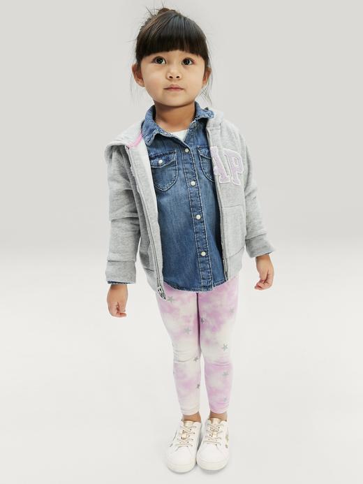 Kız Bebek Mavi Desenli Tayt