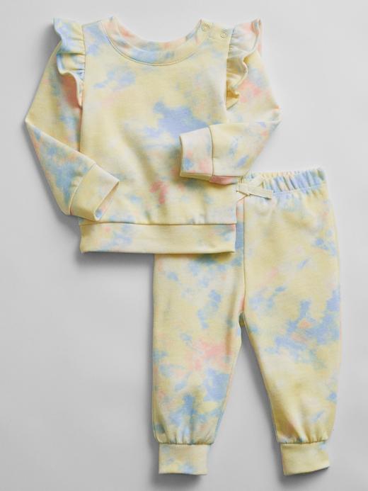 Kız Bebek Sarı Tie-Dye Eşofman Takımı