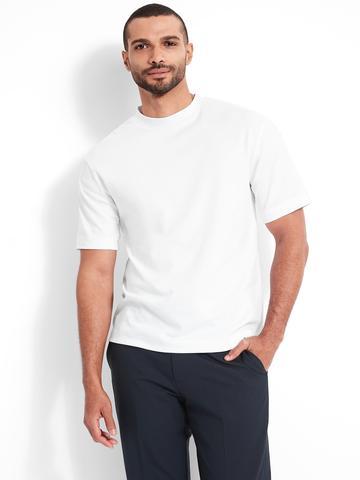 Erkek Beyaz Organik Pamuklu Yuvarlak Yaka T-Shirt