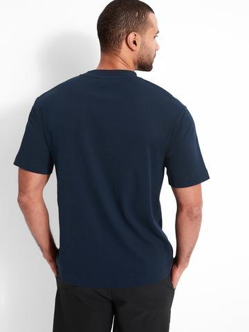 Erkek Gri Organik Pamuklu Yuvarlak Yaka T-Shirt