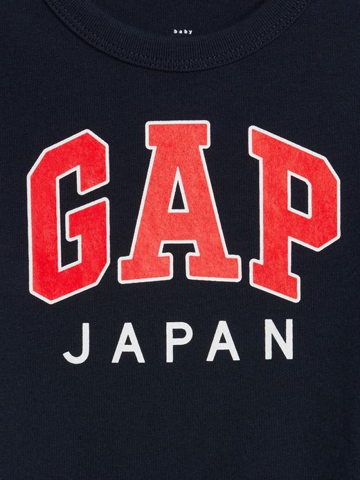 Erkek Bebek turkuaz Gap Logo Kısa Kollu T-Shirt