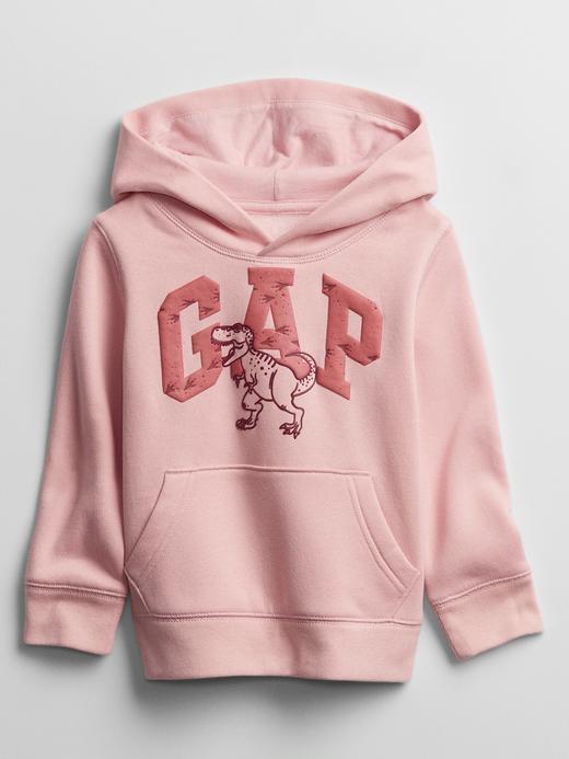 Erkek Bebek Pembe Gap Logo Kapüşonlu Sweatshirt