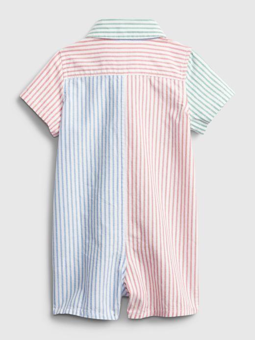 Erkek Bebek Çok Renkli Renk Bloklu Şort Tulum