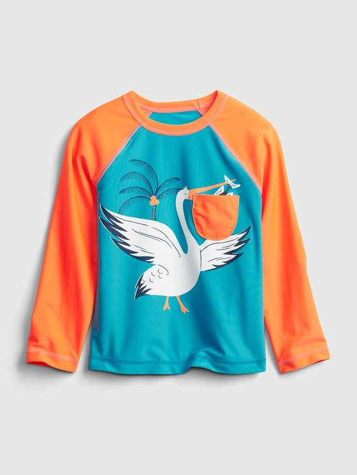 Erkek Bebek Mavi 3 Boyutlu Grafik Mayo T-Shirt